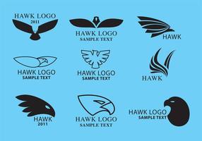 Hawk-logoviktorer vektor