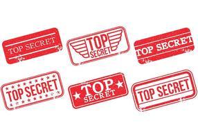 Top Secret Stamp Vectors