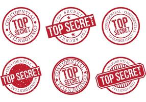 Top Secret Stempel 2 vektor