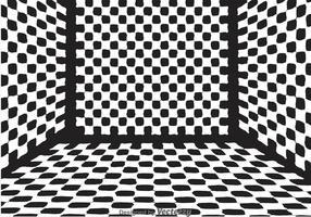 Vektor checker board room