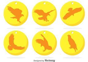 Golden Circle Eagle Abzeichen Vektoren