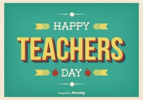 Retro stil lärare dag illustration vektor