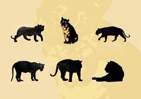 Vektor Tiger Silhouetten kostenlos