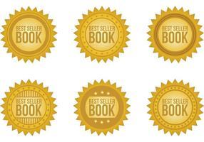 Bestseller-Buch-Abzeichen vektor