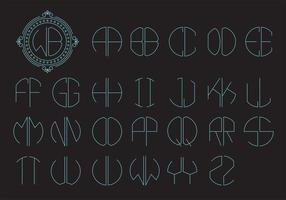 Monogramm-Logo-vektorschablone vektor