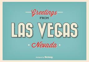 Weinlese-Las Vegas-Gruß-Plakat vektor
