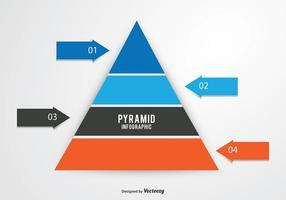 Pyramid diagram illustration vektor
