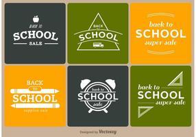 Tillbaka till skolan märken vektor