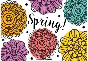 Frühling Gekritzel Blumen vektor
