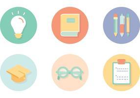 Studiere Vektor-Icons