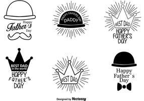 Glückliche Vatertags-Retro Zeichen vektor
