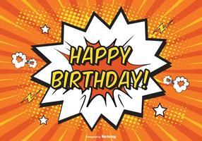 Komisk grattis på födelsedagen illustration