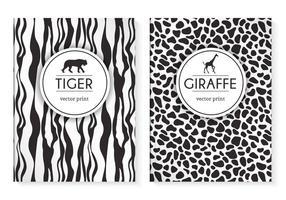 Free Wild Animal Drucke Vektor Cover