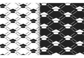 Free Vector Academic Hat Nahtlose Muster