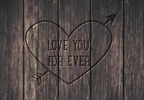 Free Love You Forever Vektor Hintergrund