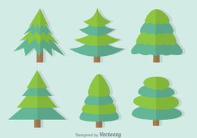 Duoton träd vektor uppsättning