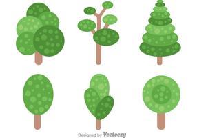 Einfacher Baum mit Blättern Vektoren