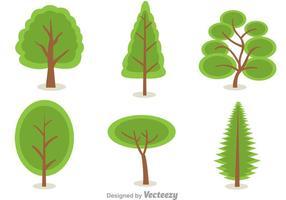 Gröna trädvektorer vektor