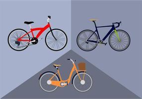 Gratis cykelvektor vektor
