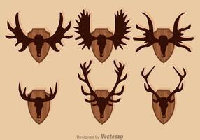 Moose und Hirsch Jagd Trophy Vektoren