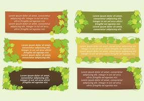 Murgröna lämnar bannervektorer