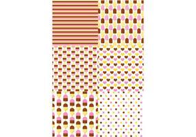 Eiscreme Muster Set