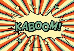 Komisk stil kaboom illustration