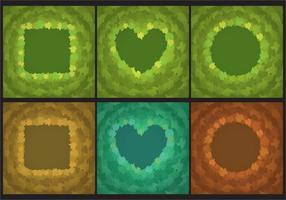 Murgröna lämnar ramar vektor