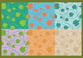 Murgröna lämnar mönster vektor