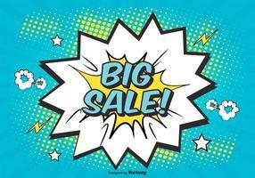 Comic Style Verkauf Hintergrund Illustration