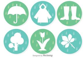 Frühlingsduschen Icons