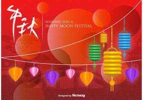 Kinesisk Moon Festival Bakgrund vektor