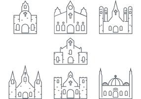 Vector Kirche Umriss