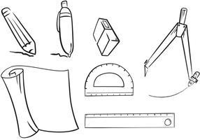 Flache Architekturwerkzeuge vektor