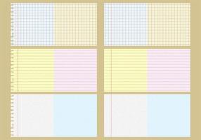 Vektor anteckningsblock mönster