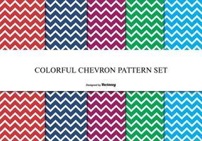 Färgglada Chevron Pattern Set vektor