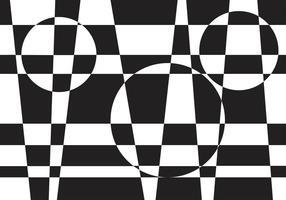 Illusionen Schachbrett Vektor