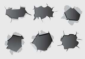 Kula hål papper vektor