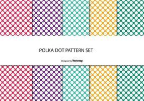 Färgglatt Polka Dot Mönster Set vektor