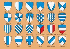 Heraldiska Shield Shapes vektor