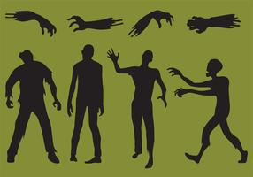 Zombie-Vektor-Silhouetten