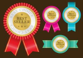 Bestseller-Abzeichen-Vektoren vektor