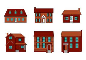 Freie Mansion Vektor Set