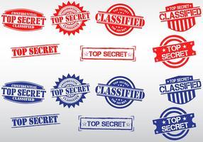 Streng geheimen Briefmarkenvektoren