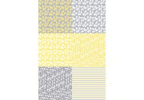 Gul Flora Patterns vektor