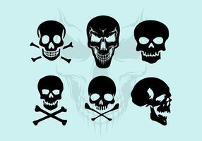 Vektor Skull Silhouette Illustrationer