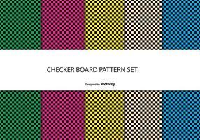 Schachbrett-Stil Muster Set vektor