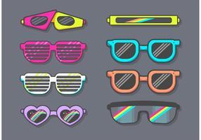 80-solglasögon vektor