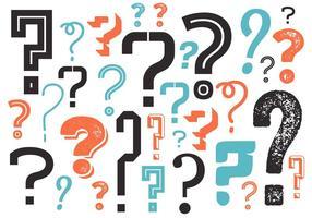 Fragezeichen-Hintergrund in Vektor