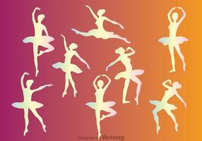 Pastell Ballett Weibliche Tänzer Vektoren